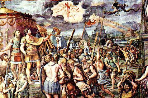 Constantino I establece el cristianismo como la religión oficial del Imperio Romano.